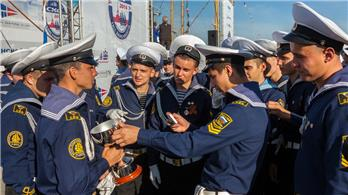 Cadets of Admiral Nevelskoy Maritime State University